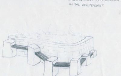 Künstlerbänke auf der Streuobstwiese Apelern