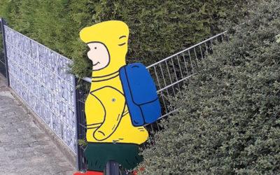 Verkehrs-Kinder und Apfelbaumschilder für Reinsdorf