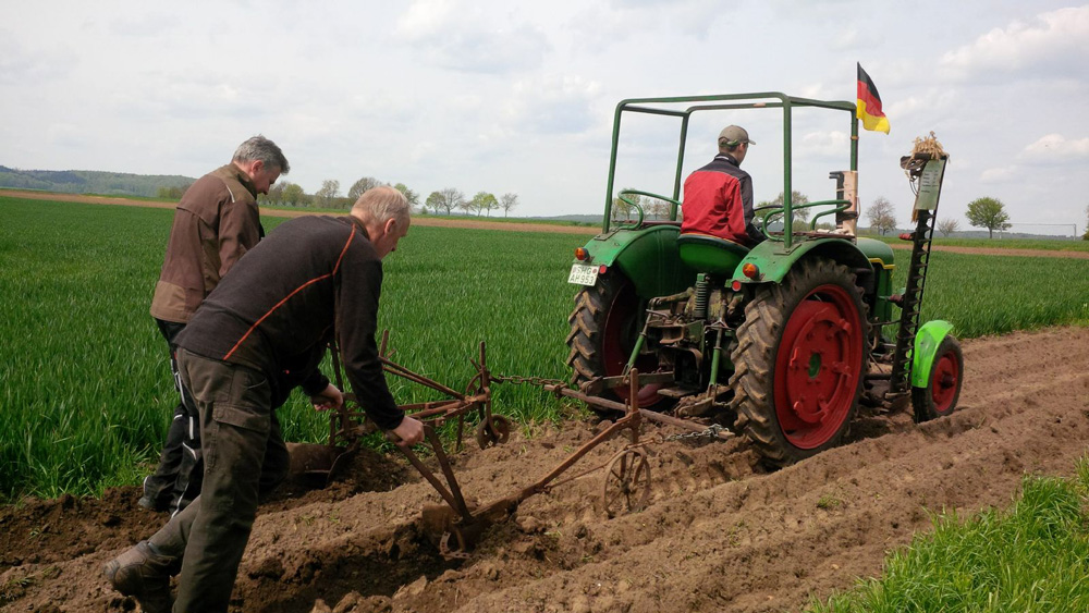 Kartoffelacker 2021 angelegt